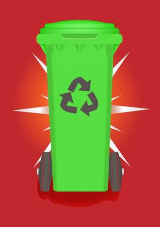 Green bin Vector