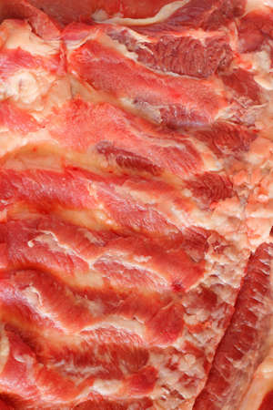 Streaky pork background photo