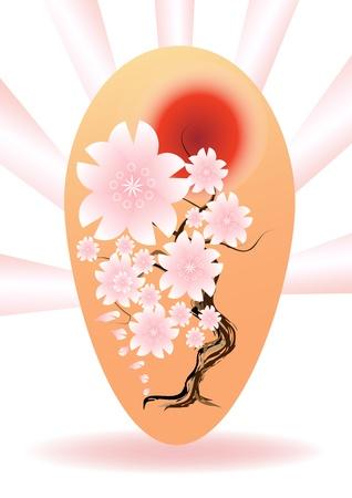 Cherry blossoms egg easter Stock Vector - 17163142