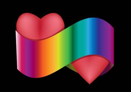colorfull: Heart colorfull Illustration