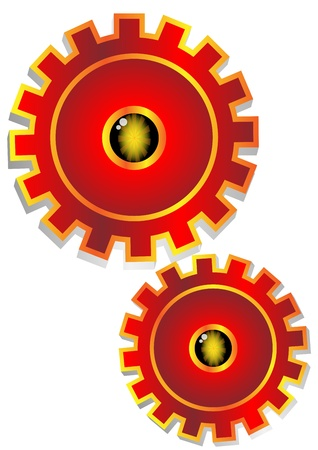 Red gear icon Vector