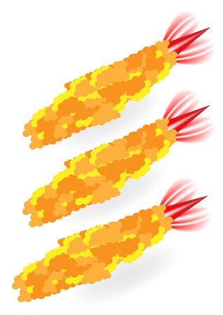 fried shrimp: Tempura vector - Fried shrimp