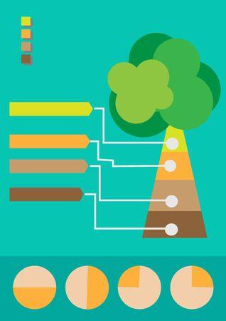 Infographic Tree Stock Vector - 18022838