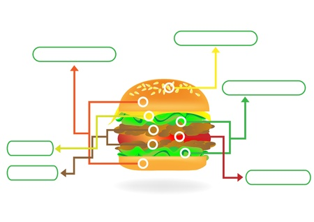 Infographic Hamburger Stock Vector - 18107849