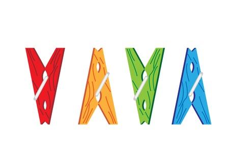 laundry hanger: Pinzas para la ropa de colores