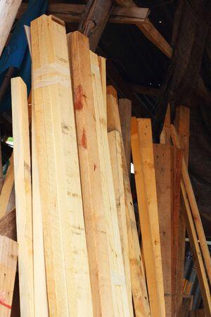 pile of cut wood stump photo