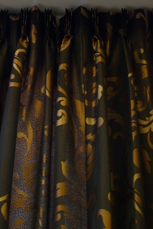 tuck: Luxury Curtain - black and gold background
