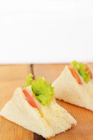cuisine entertainment: Sandwich with sausage Stock Photo