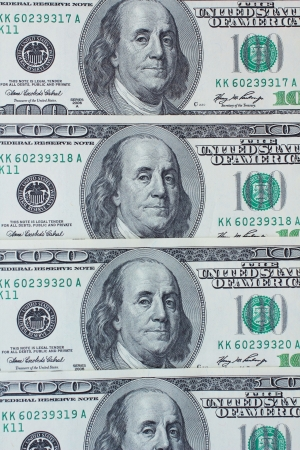 pay wall: Many dollars banknotes - USD paper currency Stock Photo