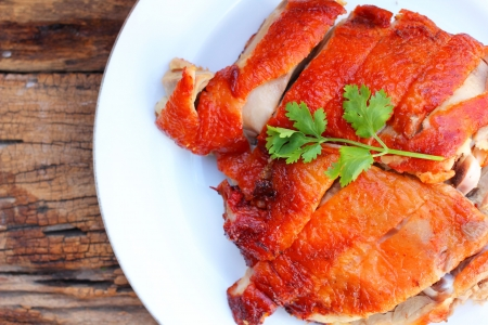 Roasted duck - Chinese food Stock Photo