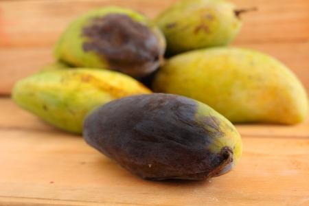 perishable: Rotten mango. Stock Photo