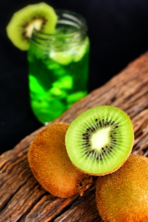 kiwi drink and fresh fruit photo