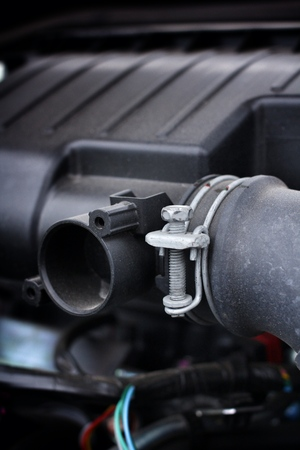 engine compartment: Closeup of a engine compartment