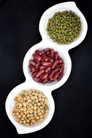 gram: Close up of gram green soy bean and azuki bean