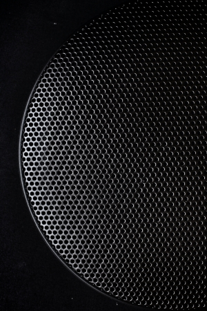 Close up of speaker grid photo