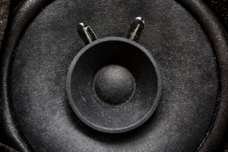Close-up of subwoofer black speaker Stock Photo - 22619085