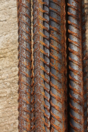 Close up steel rod background