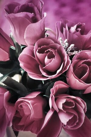 Beautiful rose of artificial flowers photo