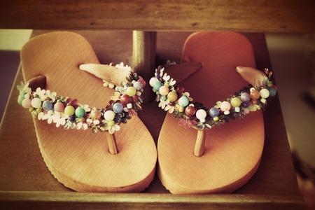 Pair of flip flops photo