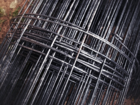 Close-up steel rod background photo