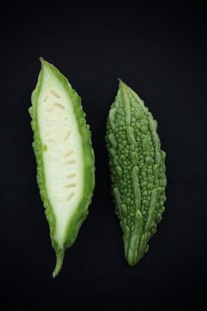 Close-up van plantaardige bittere meloen.
