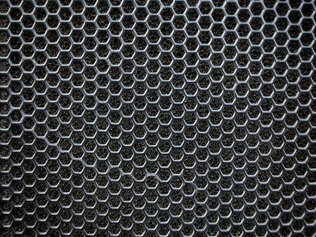 Close up of speaker grid photo