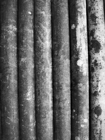 Old iron pipes stacked  photo