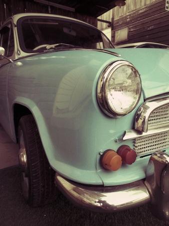 The headlight of a vintage car - retro style photo
