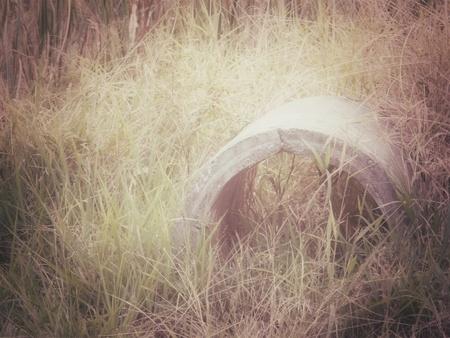 Concrete drainage tank photo