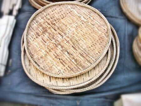 hand woven: wooden baskets