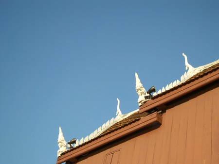 roof of house and blue sky photo