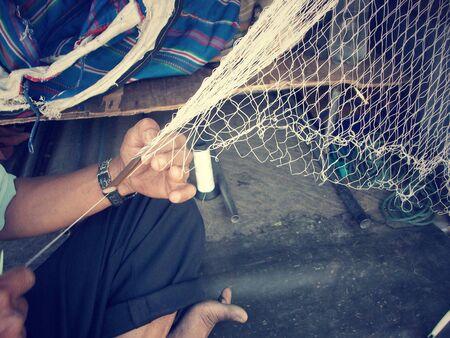 fischerei: Fischnetz Textil f�r Asien Fischerei