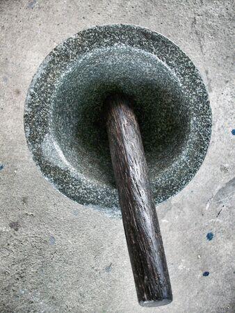 pestel: Close up of the mortar Stock Photo
