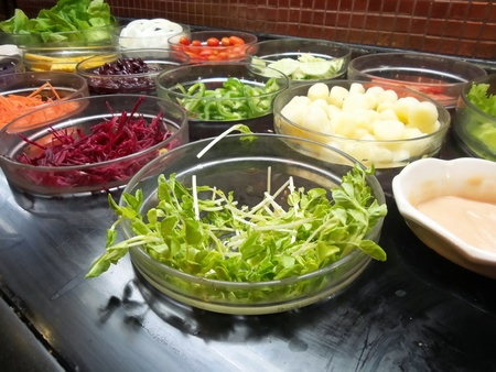 Buffet salad at restaurant photo