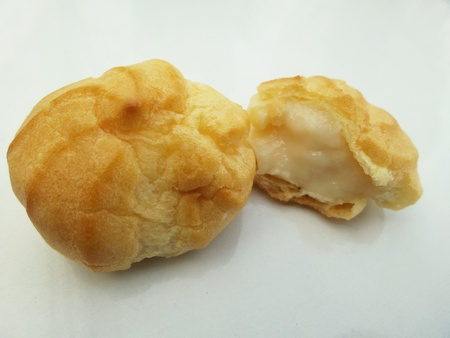 Close up of cream puffs photo