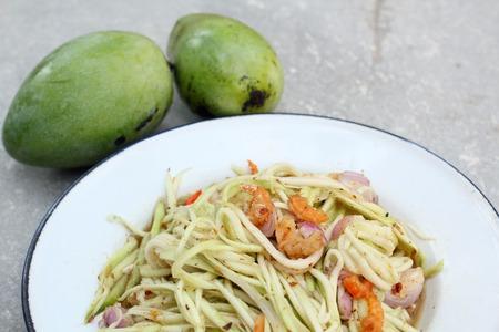 Close up of mango salad photo