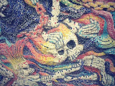 Devil tile mosaics background texture photo