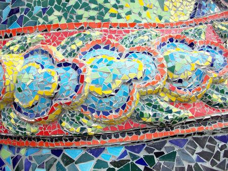 Colorful tile mosaics background texture photo