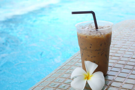 Iced coffee and flower