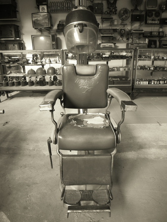 chairs: barber chair vintage Stock Photo