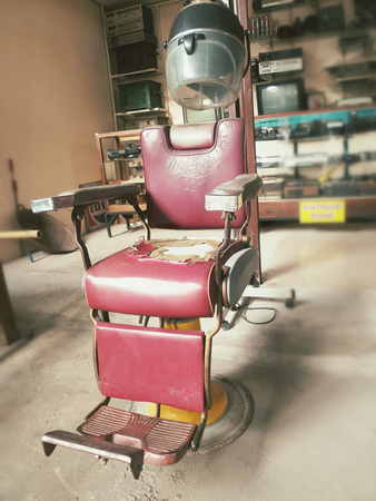 barber chair vintage photo