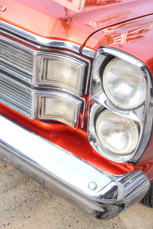 Headlights vintage classic car  photo