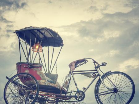 trishaw: Tricycle in thailand - vintage bike
