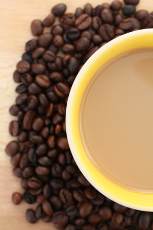 Hot coffee with bean  photo