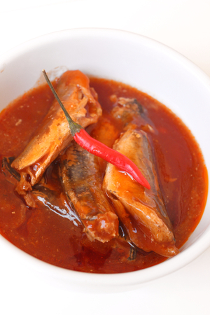 fish in tomato sauce - canned fish photo