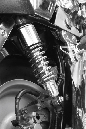 shock absorber motorcycle photo