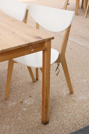 Table in the house. photo