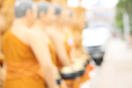 god box: Blurred bowl of monk at temple