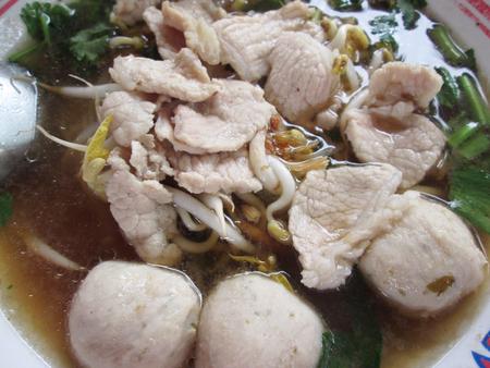 noodles in soup photo