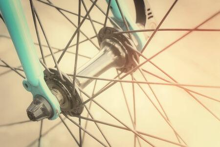 bike wheel: Vintage bicycle wheel